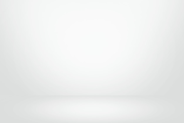 현재 제품의 흰색과 회색 그라데이션 벽 배너, 빈 스튜디오 룸 및 인테리어