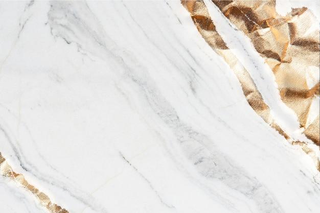 Белая и металлическая мраморная текстура