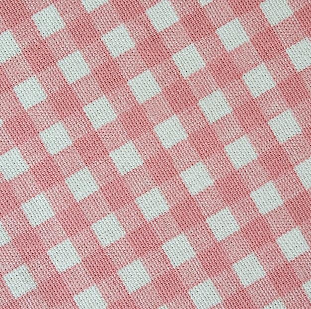 흰색과 분홍색 격자 무늬 패턴 패브릭 질감