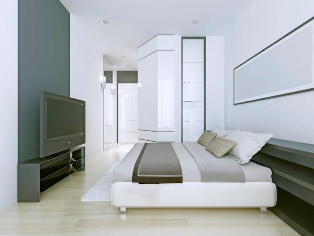 Contemporaryu 스타일의 흰색 아파트