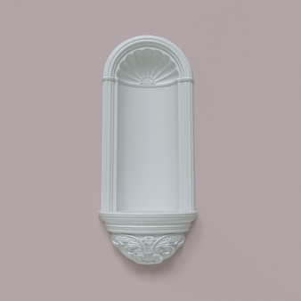 White arche on a pink background  scene to show products 3d illustration