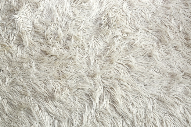 White artificial fur texture for background