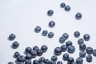 White background blueberry