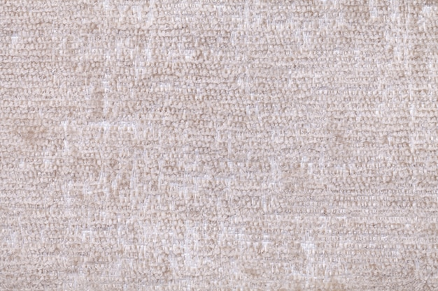 White background of soft, fleecy cloth. texture of textile closeup