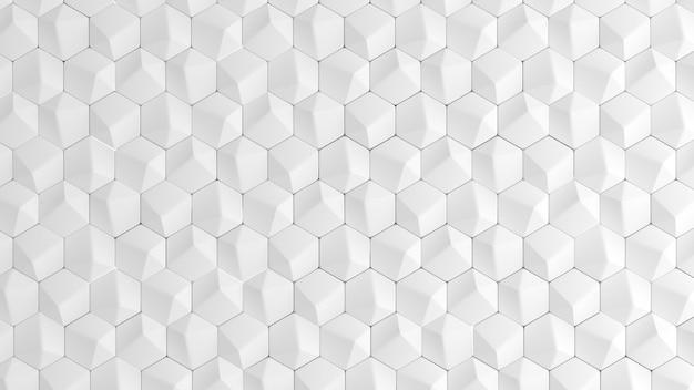 기하학적 형태와 흰색 배경 텍스처입니다. 3d 일러스트