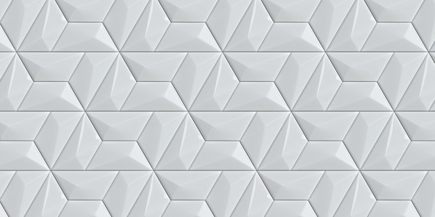 White background with 3d effect decorative panel stylish texture and tile for your design