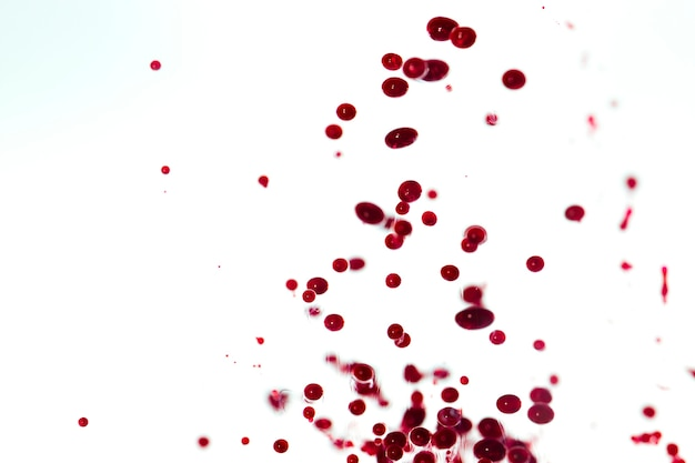 White background with blurred ink drops