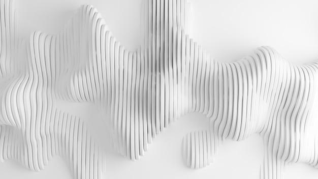 ラインと白い背景。 3dレンダリング。