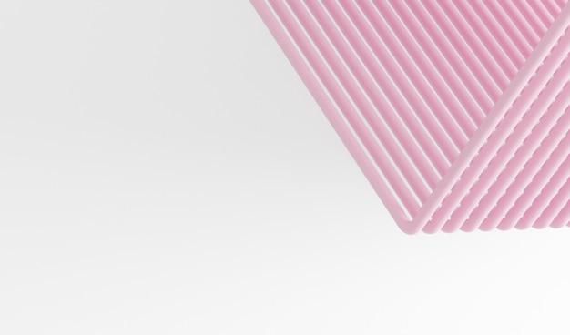 분홍색 추상 튜브, 선, 분홍색과 흰색 줄무늬 배경으로 추상적 인 배경 흰색 배경