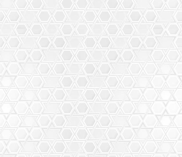 ダビデの星の装飾品と白い背景