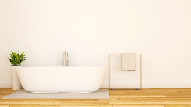 White bathroom minimal design