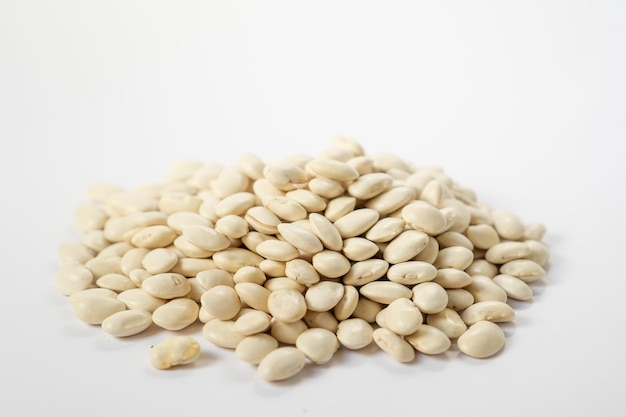 White beans on white surface