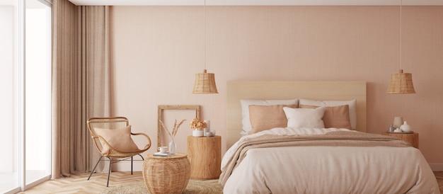Дизайн интерьера белой спальни с чистыми простынями