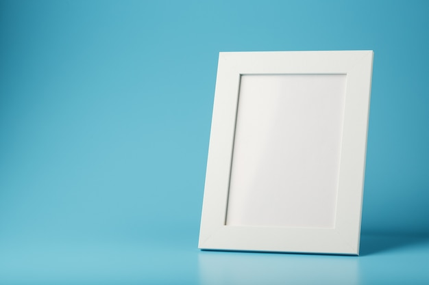 White and black photo frame with empty space