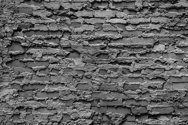 White and black red brick wall texture background