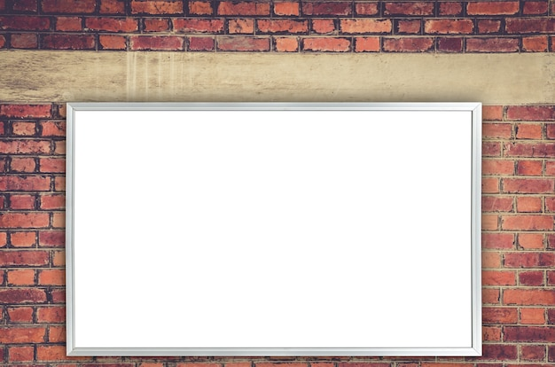 White blank advertise on wall mockup