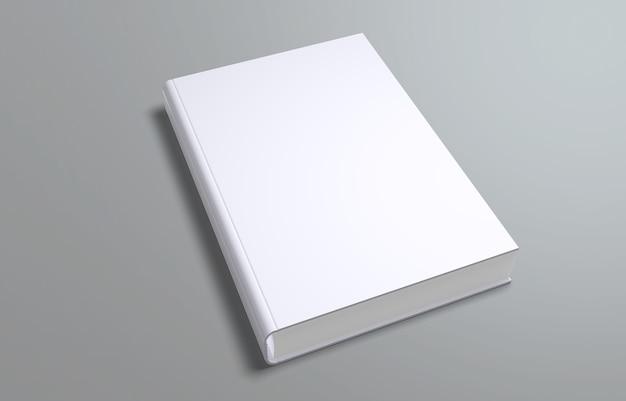 白い空白の本の表紙のテンプレート、psdモックアップ