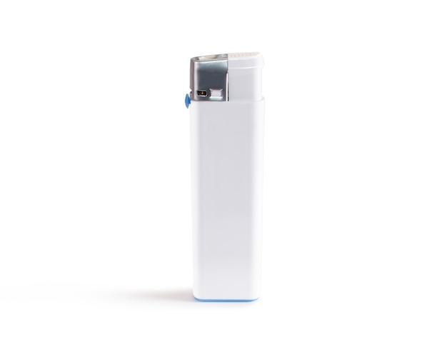 White blank gas lighter mock up