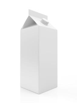 Изолированные белый пустой пакет молока или сока