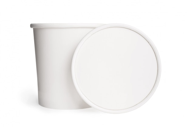 White blank paper cup