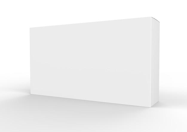 Белая пустая коробка пакета продукта