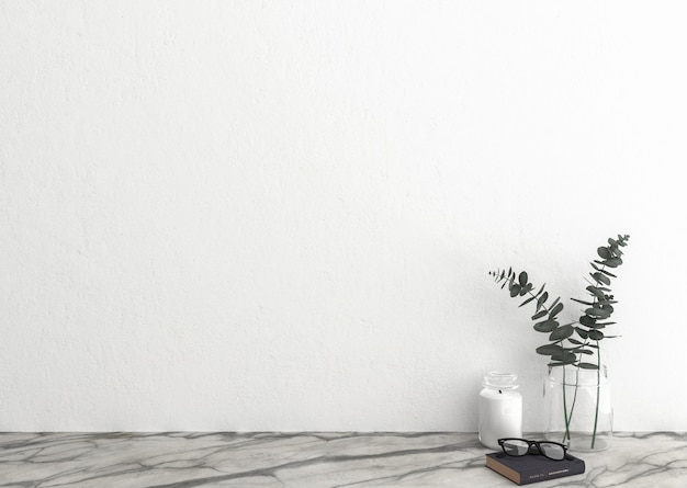 White blank wall