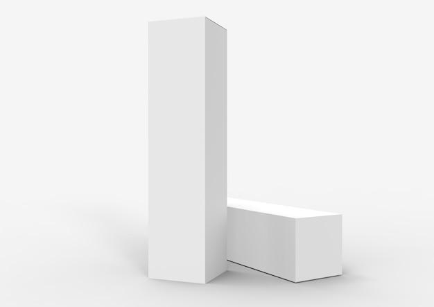 Белая пустая коробка для вина и напитков