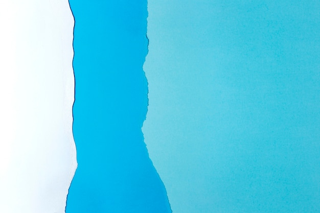 Sfondo di carta bianca e blu