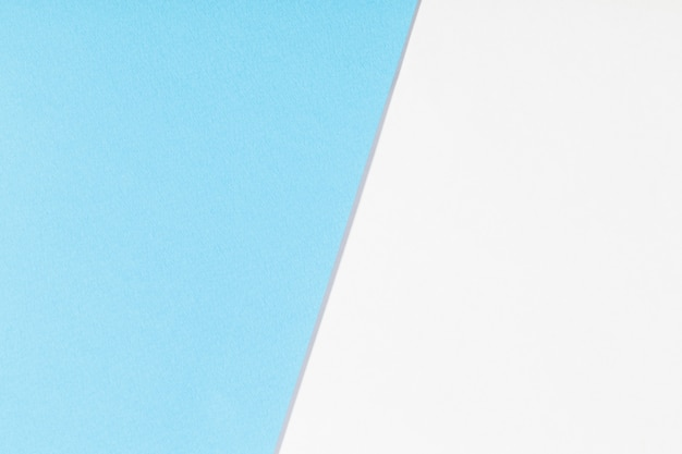White and blue paper background