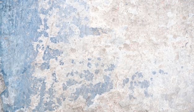 White and blue rusty concrete texture background with a space for text or design