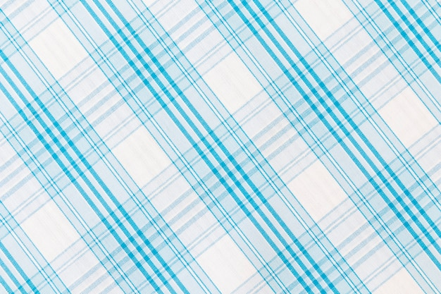 White and blue stripes textured fabric