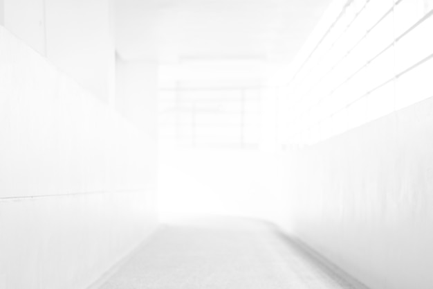 White blur abstract background from building hallway for corridor building background