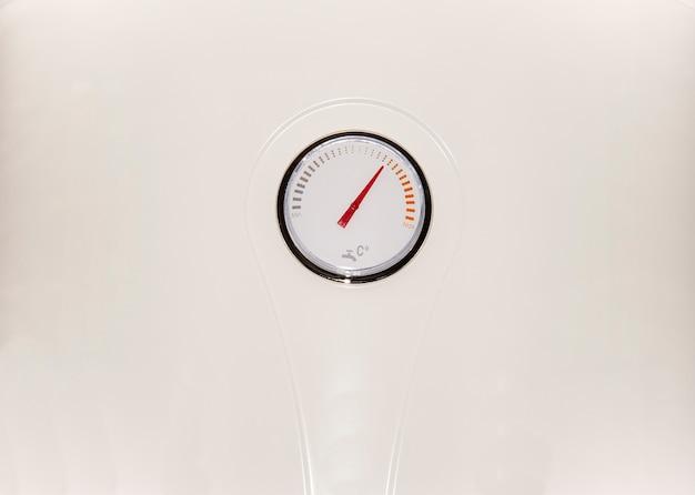 White boiler with water temperature regulator