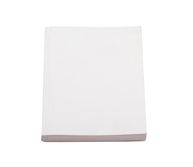 White book isolated on a white background