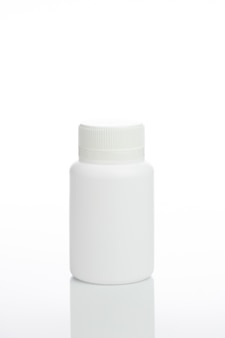 White bottle isolated for package