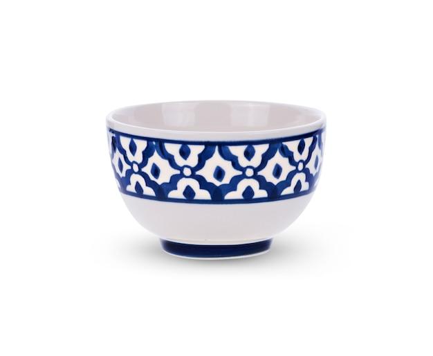 흰색 그릇 세라믹 흰색 배경에 고립