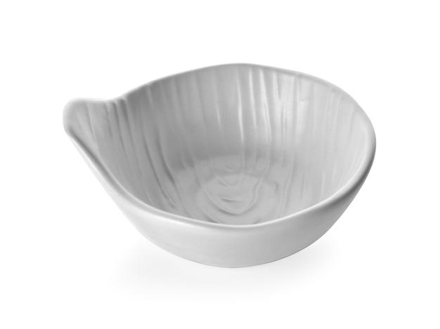 흰색 배경에 고립 된 흰색 그릇
