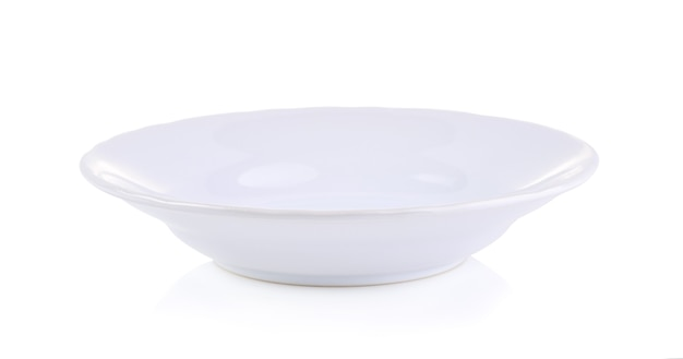 White bowl isolated on white