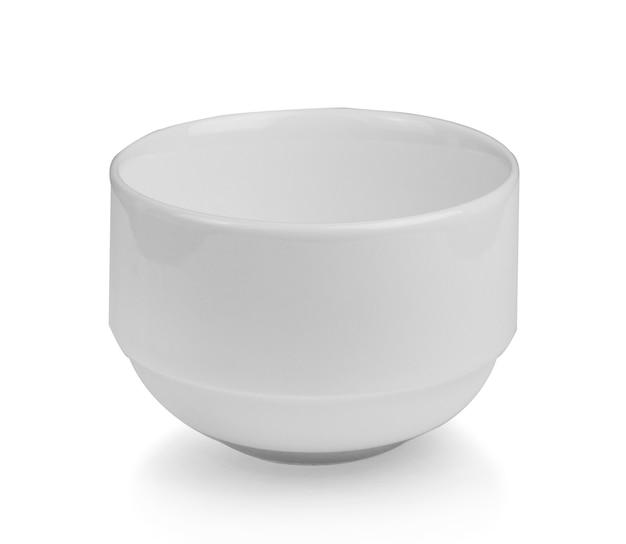 Белая чаша изолирована