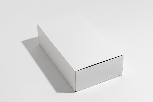 White box of bath bombs on white background