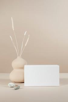 White box mockup design on minimal background
