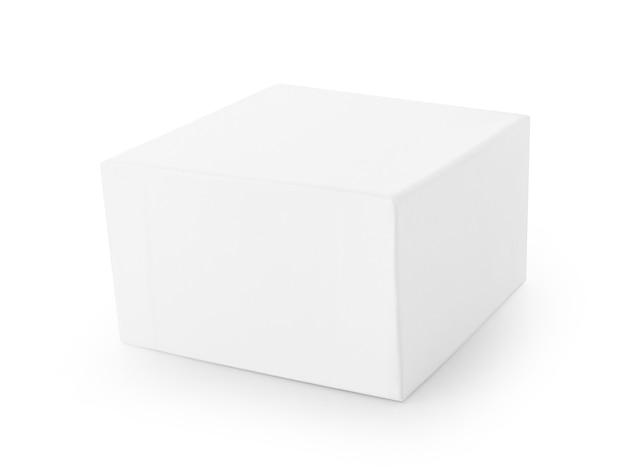 白い背景の上の白いボックス。