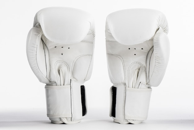 White boxing gloves isolated