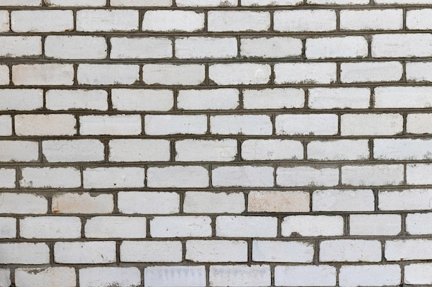 White brick vintage wall for background or texture