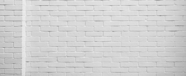 White brick wall architectural background