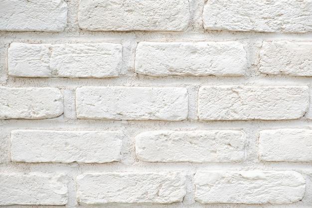 흰색 벽돌 벽 배경입니다. 벽돌 질감
