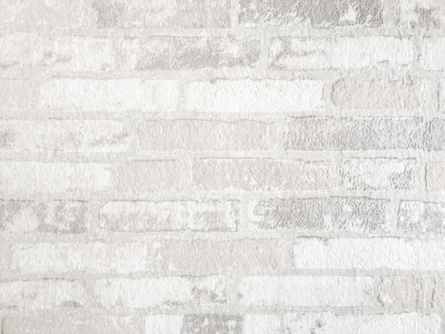 White brick wall background. texture of concrete made from stone material.