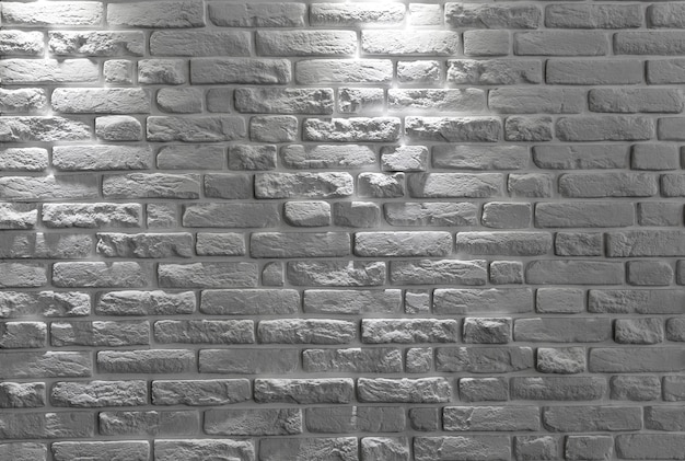 White brick wall background or texture.