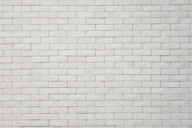 White brick wall for background and texture
