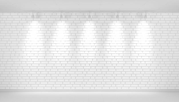 여유 공간이있는 흰색 벽돌 벽 배경